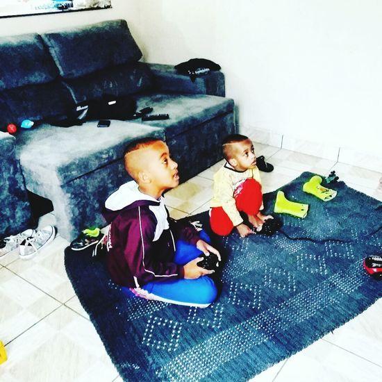 Brothers Childhood Boys Games Play Children Only Child Domestic Life Maua Brazilian Sao Paulo - Brazil Sensory Perception Human Eye