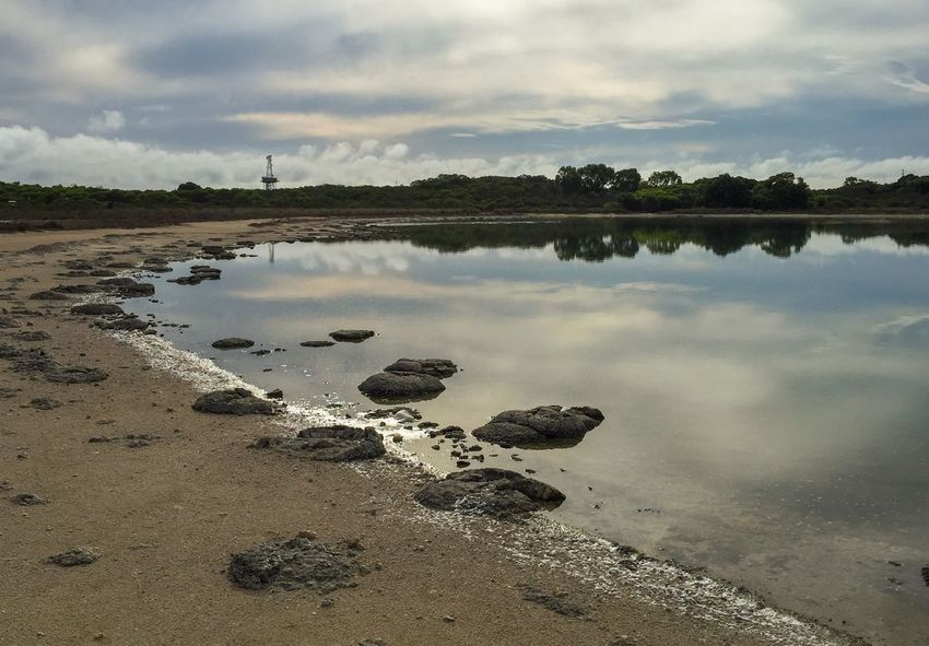 Overcast Scenic View at Lake Thetis Water_collection Reflection The Great Outdoors - 2016 EyeEm Awards Water Saline Nature_collection Coastal Sediment Geology Natural Phenomenon Living Marine Fossil Marine Living Rock Fossil Stromatolites Lake Western Australia (null) Australia Nature Lake Thetis Rare Landscape Scenics