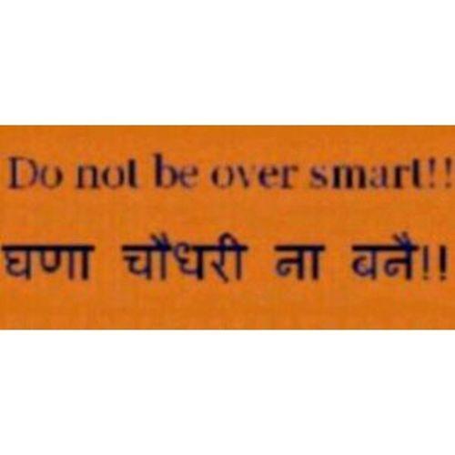 LOL Smartass Dontbeoversmart Haryanvi indianslang slang
