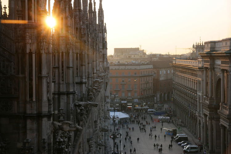 View of people at piazza del duomo