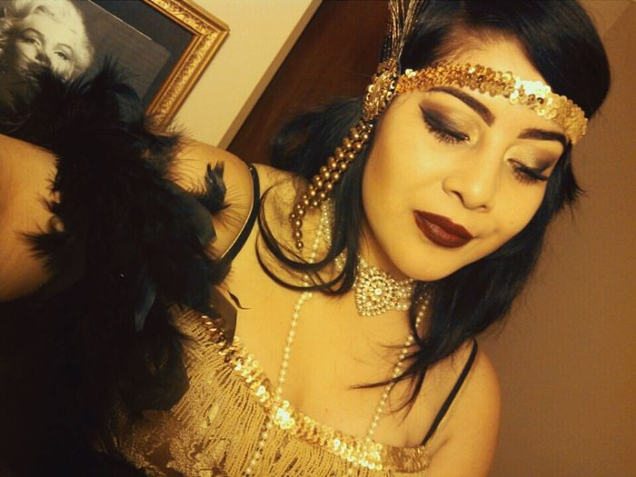 When i used to be a flapper 👠 Flapper 1920 Flapper Girl Flapper Gold Dressupclothes Dressup Pearls Love Girl Takemeback