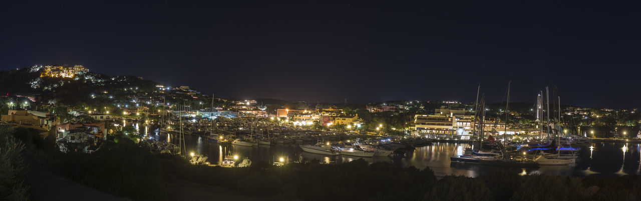 Porto Cervo Nightphotography Harbor Boats Luxury Night Nightlife Vacations Destination Tourism Tourist Neighborhood Map