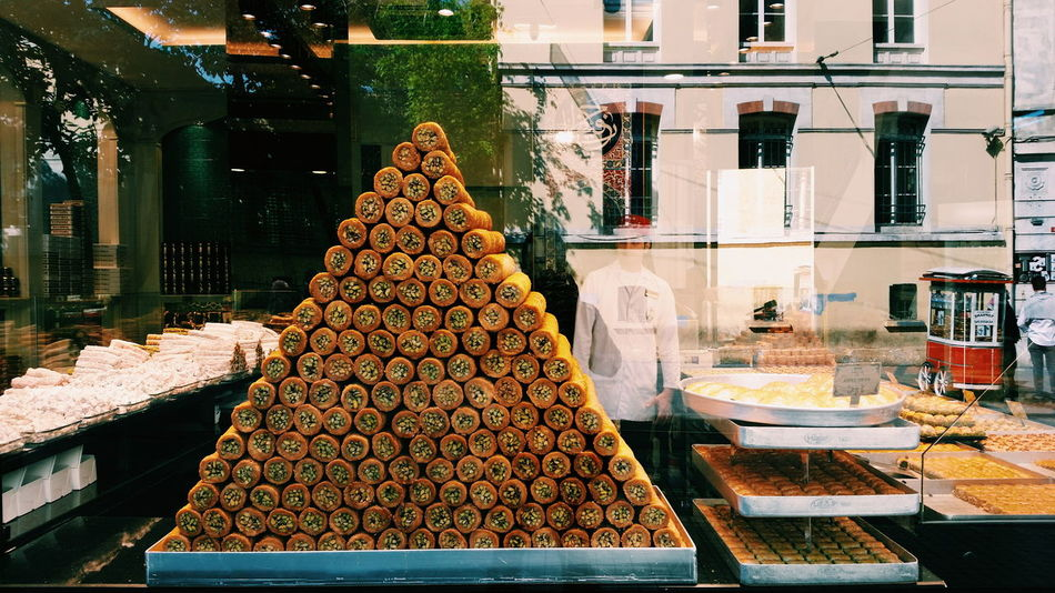 Pyramid of sweets at Istiklal Street, Istanbul. Pyramid Sweets Istanbul Istanbul Turkey Istanbul City Istiklal Istiklal Caddesi Shopping ♡ Street Photography Mobilephotography Beautifully Organized My Year My View Food Stories