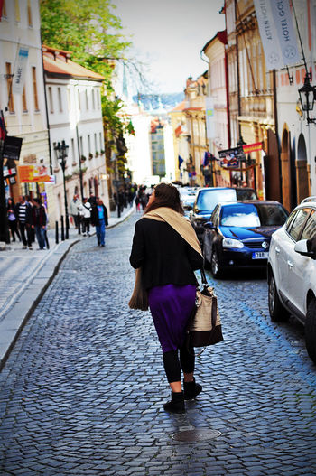 Prague Streetphotography Girl Lost Oldcity Capital Cities