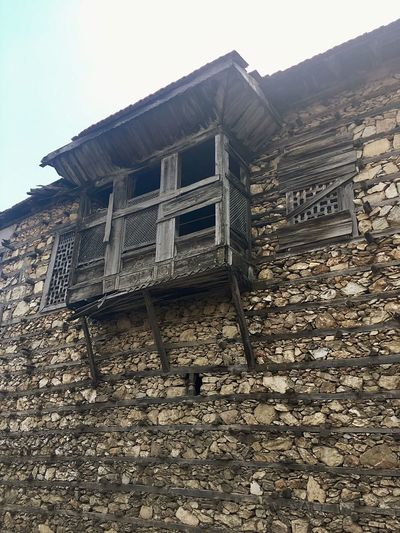 İbradı Güncesi - Fsn® Voyager Gezgin Seyyah Vintage Woodenhouse İbradı Architecture Built Structure Low Angle View Building Exterior No People History Day Ancient Civilization Old Ruin Outdoors Sky