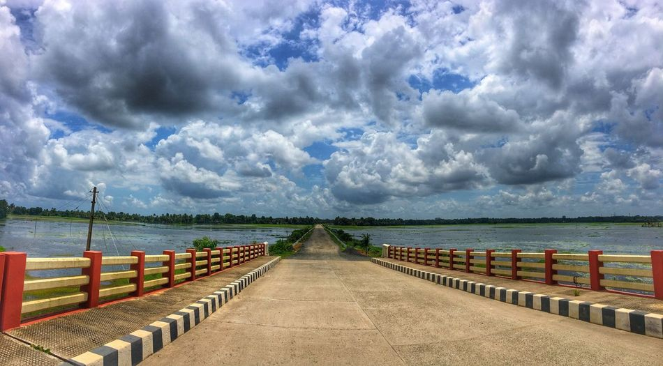 Cloud - Sky Sky Railing Outdoors Nature No People Beauty In Nature Day Sea Water Horizon Over Water Pier Scenics Tranquility Tranquil Scene Jetty Beach