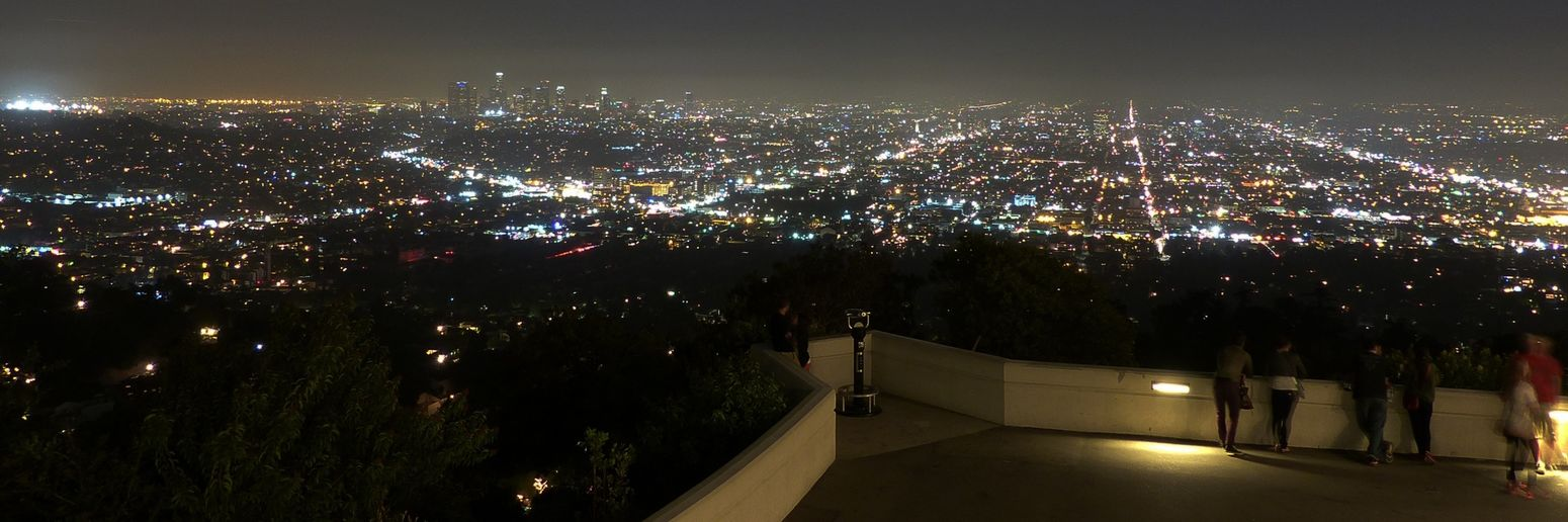 Los Angeles, California Observatory At Night