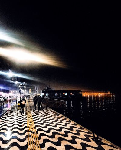 Turkey Izmir Water Real People Night Sea Sky Outdoors Nature Two People Lifestyles Beauty In Nature Horizon Over Water People Live For The Story Live For The Story