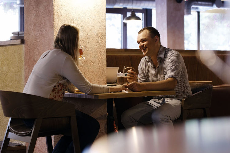 Cafe Caucasian Chat Couple Dine Dinner Drink Eat Family Food Husband Man Meal People Person Restaurant Talk Wife Woman