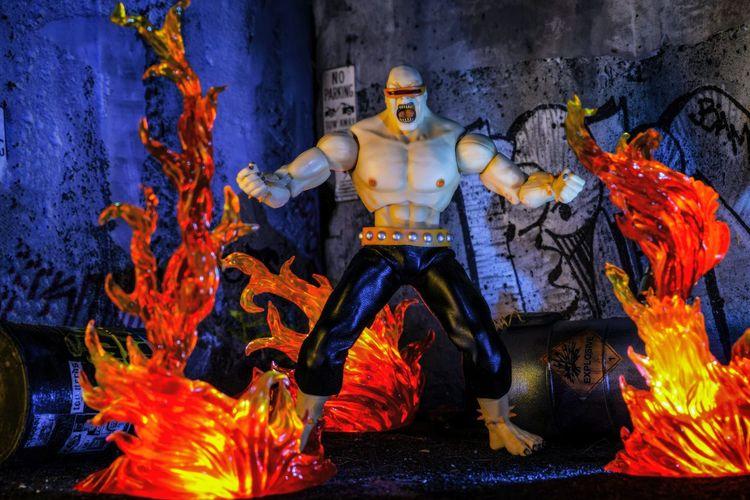 Action Figure Toy Photography Action Figure Photography Mezco Toyz Mutant Leader Diorama Batman TheDarkKnightReturns