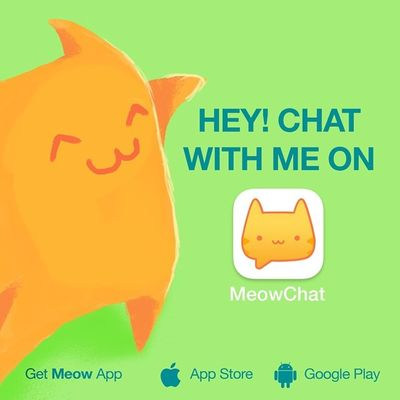 Let's chat on Meow: keatington. Get the App here: @MeowApp or http://meow.me/?app Meowchat