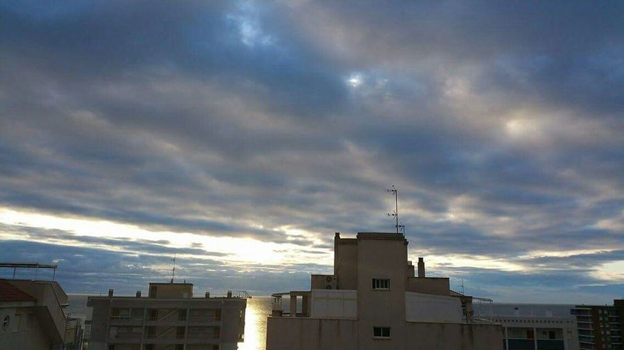 Hello World Check This Out Taking Photos Nice View Love The Clouds Ballet When The Sun's Go S Going 2 Sleep...clouds Por Sea Evening Dark Lights...I In Los Arenales Spain