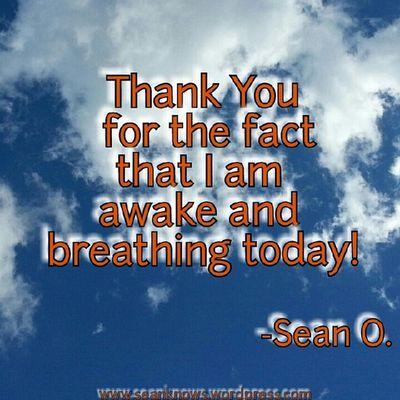 SeanKnows Thankyou Awake Breathing