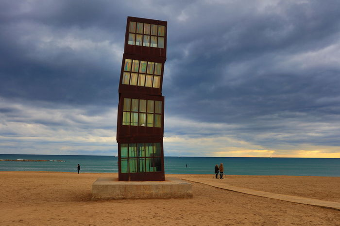 Architecture Barcelona Barceloneta Beach Building Exterior Built Structure Cloud - Sky Cloudy Horizon Over Water Sand Sea Shore Silouhette SPAIN The Street Photographer - 2016 EyeEm Awards