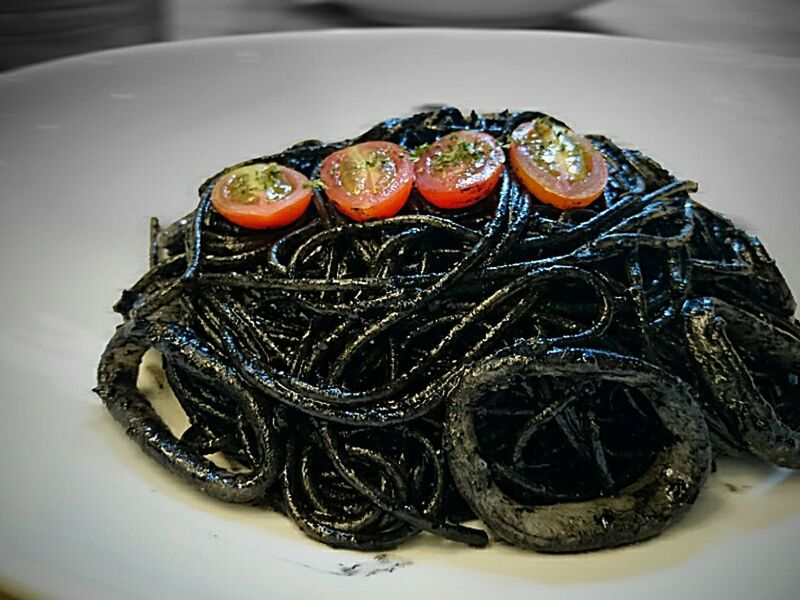 Squid Ink Pasta Delish! Foodporn❤️ AwesomeSauce Flavourgasm