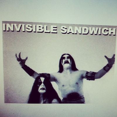Dimmu Borgir Invisible Sandwich Probably   Too Hilarious Humor Goth Blackmetal Metal LOL Meme