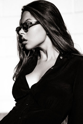 guest from Prague EyeEm Best Shots Portrait Of A Woman TheWeekOnEyeEM Adult Beautiful Woman Beauty Black Fashion Front View Glasses Long Hair Portrait Real People Women Young Adult Young Women