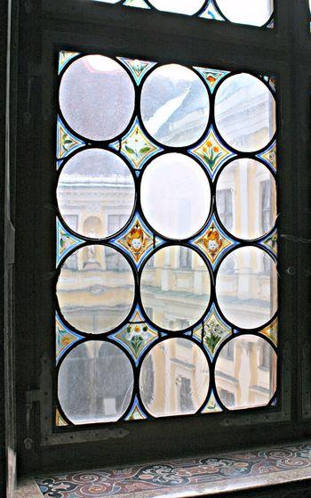 Design Geometric Shape No People Pattern Shape Stained Glass Window Window