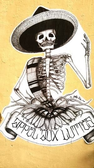 Streetphotography Collage Collage Art Street Photography Streetart Lucha Calavera  Paris Resistance  Mexican Inspiration Sombrero