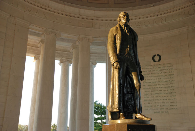 Bronze Architectural Column Architecture Art And Craft Authority Built Structure Day Gold Colored Government History Human Representation Indoors  Jefferson Memorial Low Angle View Male Likeness No People Politics Politics And Government Sculpture Statue Tourism Travel Travel Destinations