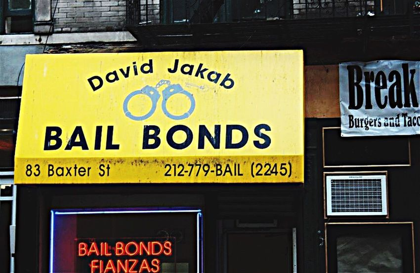 Bail bonds, NYC