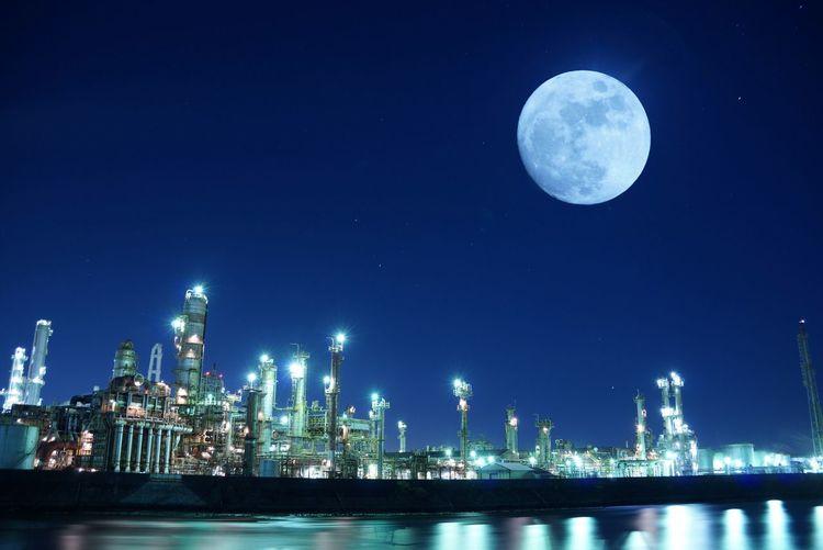 View Of Illuminated Moon At Night
