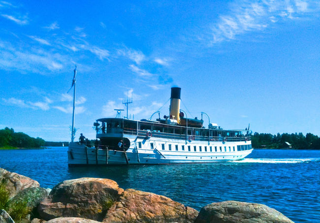 Archipelago Baltic Sea Beauty In Nature Boat Climate Change Countrylife Countryside Life Day Ferryboat Holiday Mood Mode Of Transport Nautical Vessel No People Outdoors Postcard Sailing Sea Seashore Summertime Sweden-landscape Transportation Background For Quotes Presentation Background