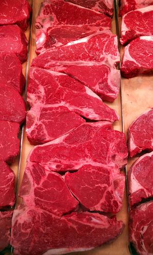 Fresh t-bone steaks at the butcher Background Backgrounds Beef Butcher Close Up Close-up Closeup Cooking Cooking At Home Food Food And Drink Food Photography Foodphotography Freshness Full Frame Meat Meat! Meat! Meat! Red Red Color Steak Steaks T-bone Tbone Vibrant Color Yummy