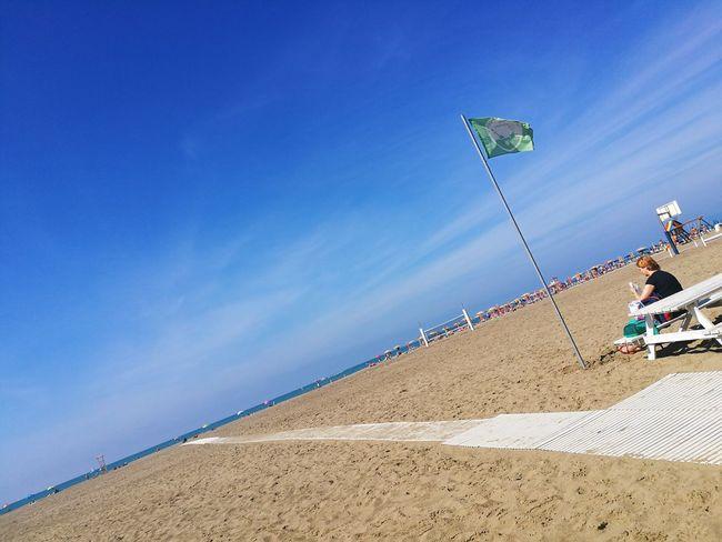 io e il mare Colorized Solitudini Contemplazione Decadenza Colorata Sand Dune Sand Blue Sky Beach Umbrella Tranquil Scene Horizon Over Water Scenics