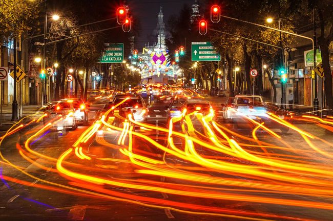 ExploreWhitUs Mexico City Mobility In Mega Cities Allianz City City Life High Street Illuminated Long Exposure Motion Night Speed Traffic Adventures In The City The Street Photographer - 2018 EyeEm Awards