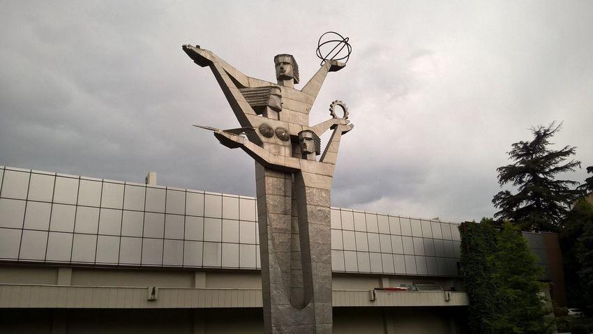 Tbilisi Expo Georgia Soviet Art Statue on the grounds of Expo Georgia in the city of Tbilisi. Expo Georgia is an exhibition center in the city.