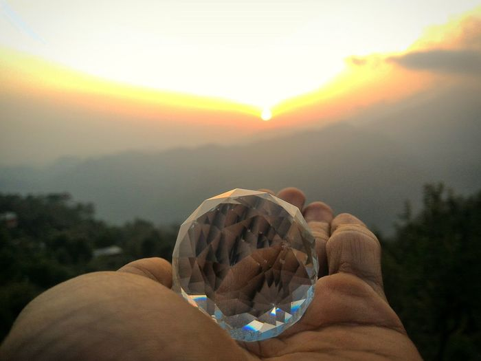 Sunset Nature Sun Crystal Crystalball Nature Is Art Vacations Travel Destinations Scenics Lifestyles Holding Non-urban Scene Mcleodganjdiaries Mcleodganj India Himachalpradesh Himachal Dharamshala Sky Cloud - Sky Leisure Activity