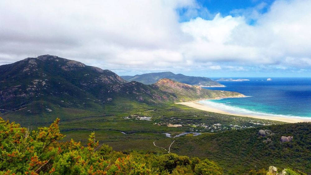 Wilson Promontory Victoria Mountain Landscape Cloud - Sky Mountain Range Scenics Beauty In Nature Nature Sky Travel Destinations Outdoors Tourism Rural Scene Tranquil Scene Wilderness AreaNature Sea Colourful Vacations No People Grass Day Nature Reserve Beautiful Nature Travel