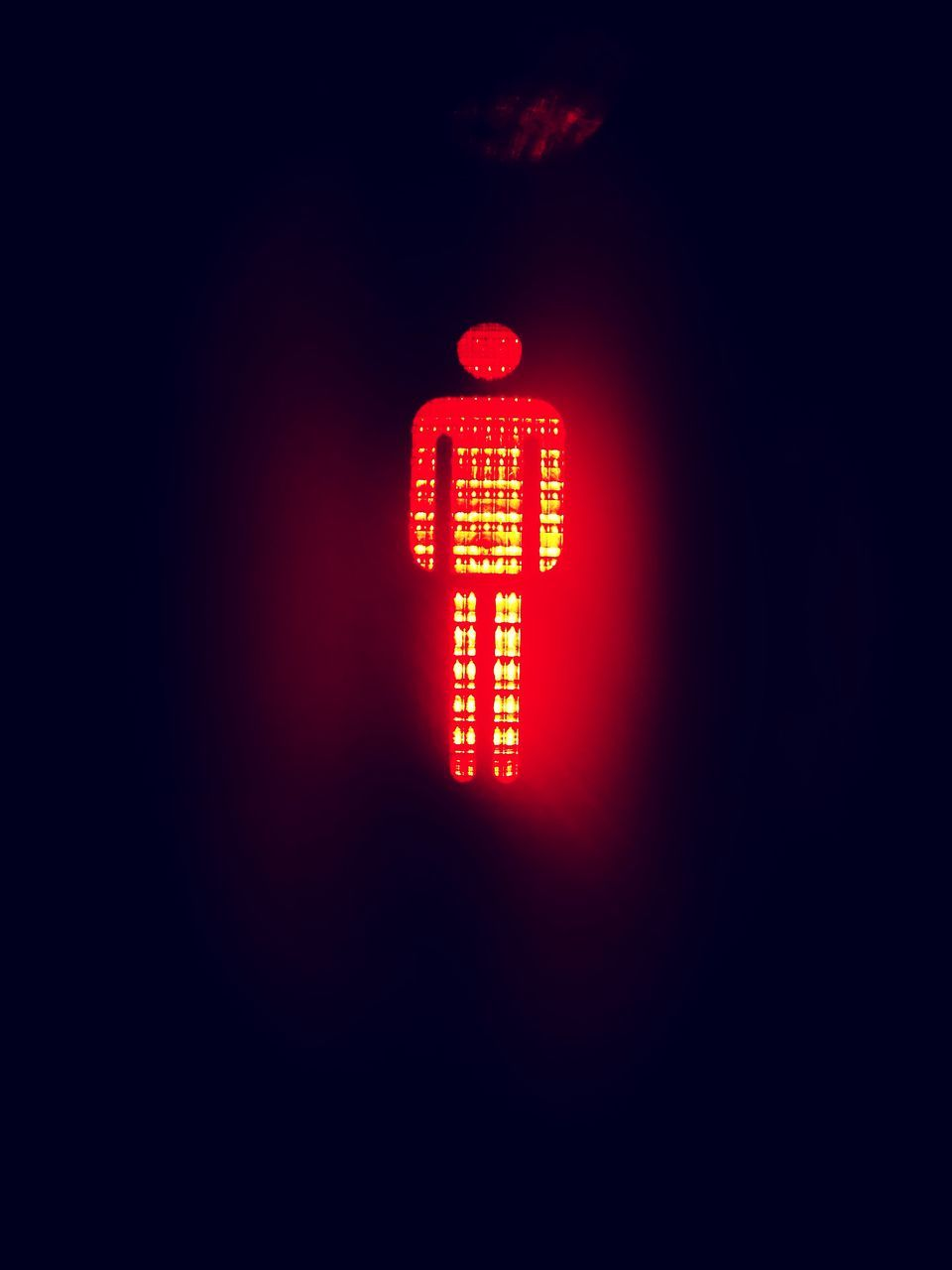red, illuminated, communication, no people, neon, road sign, outdoors, close-up, day