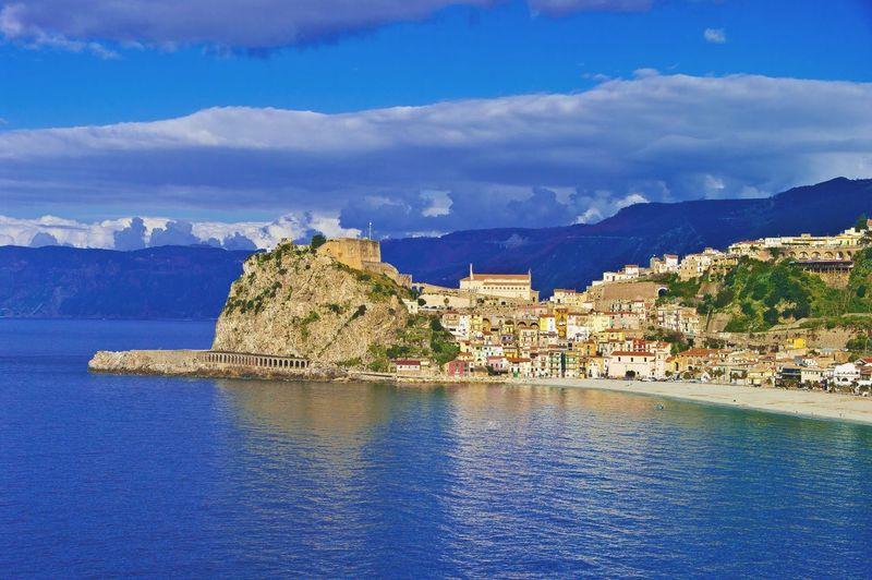 Scenic view of italian coastline