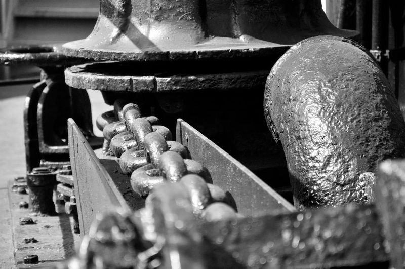 Anchor Black & White Focus On Background Full Frame In A Row Mechanic No People Selective Focus Ship Windlass EyeEm Best Shots 2016 EyeEm Awards Nikond90photographer Nikon D90