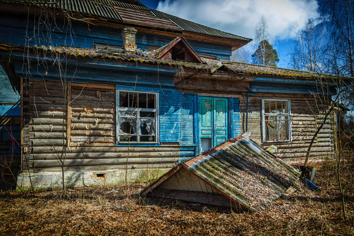 Abandoned medical sanatorium. Abandoned Architecture Bad Condition Barn Building Exterior Built Structure Damaged Day House No People Outdoors Sky Weathered Window Wood - Material