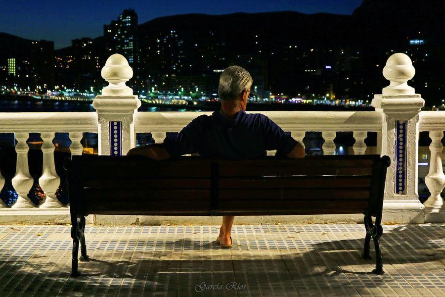 Alone. Night Men Playa Benidorm Alicante Manu García Verano España Benidorm Spain España🇪🇸 Spain♥ Manugarcía Canonphotography EOS Noche SPAIN Manu Canon_official 750D Street Lifestyles Europa