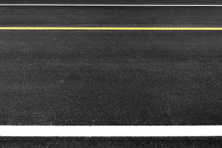 Full frame shot of empty road
