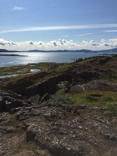 Rock Beauty In Nature Sky Nature Water Environment Scenics - Nature Land Outdoors Pingvellir Pingvellier National Park Waterfall Techtonic Plates Tectonic Tectonic Plates