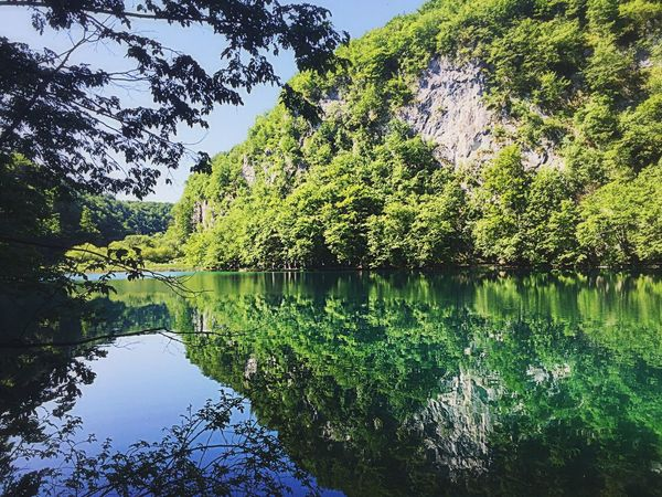 Plitvice Lakes National Park in Croatia 🇭🇷 Plitvice National Park Plitvice Croatia Water Reflection Nature Love EyeEmNewHere