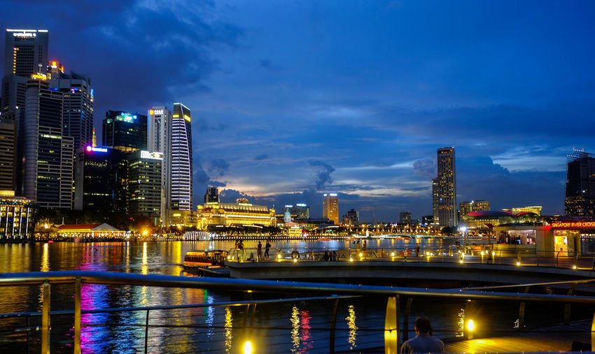 Building Exterior Architecture Built Structure Illuminated City Sky Building Water Night Cityscape Office Building Exterior Skyscraper Urban Skyline Cloud - Sky Nature River Landscape Reflection Modern No People Tall - High Outdoors Financial District