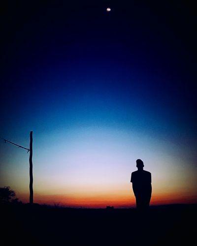 HisHandiwork Karamoja Silhouette One Man Only Sunset Lost in the Landscape