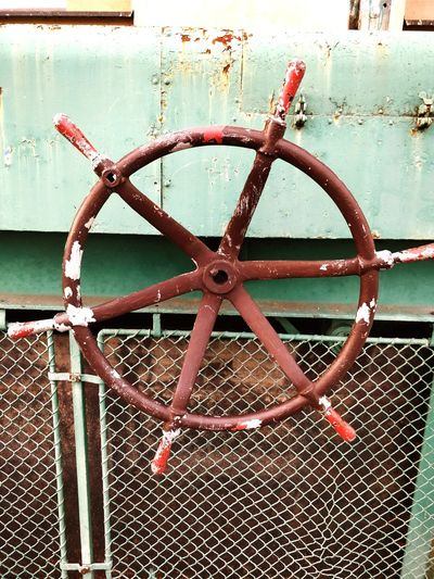 Wheel Industrial Rusty Pealing Paint Day No People Outdoors Close-up Water Metal Calm Vintage Weathered