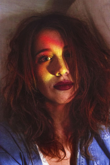 The all red EyeEm Best Edits Face Faces Of EyeEm Girl Indoors  Portrait Red Redhead Reflection Young Women