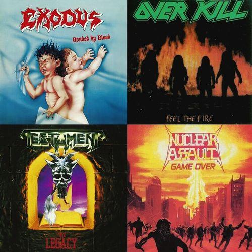 Mis discos favoritos !! Exodus Testament Nuclear Assault Overkill