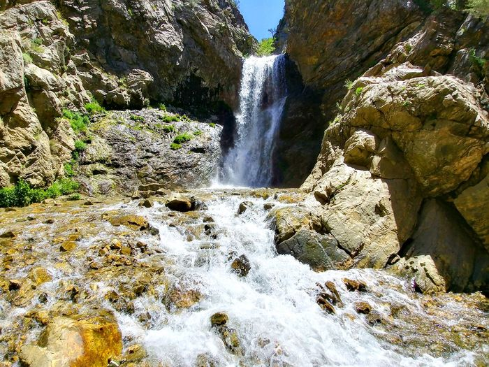 Waterfall Motion Water Flowing Water Nature Beauty In Nature Day Outdoors Scenics Hiking Trail Wasatch Mountains WasatchFront Beauty In Nature Landscape Nature The Great Outdoors - 2017 EyeEm Awards