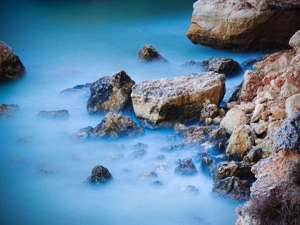 Time discovers the truth and then it falls - that's where a new journey begins Nature Thinking About Life Beauty In Nature Scenics Water Rock Formation Tranquility Tranquil Scene No People Blue Sea Fog Over Water Emotions Nature Photography Rock Nature Lover Best Of EyeEm Mist Nature Beauty In Nature The Week On EyeEm Tranquility Cliffs Blue Water Clear Mind