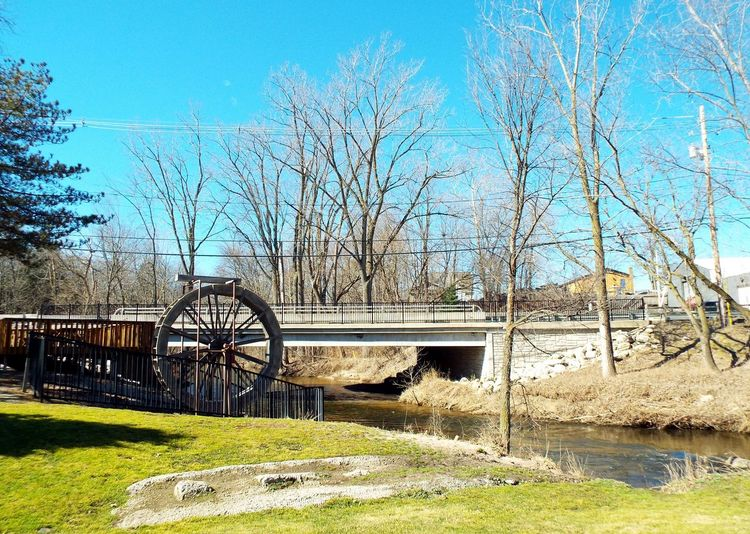 Water Wheel Landscape Bridge Over Pass Town View Towncreek Creek Energy Power Wheel Waterwheel How Do We Build The World? Creating Energy Resourceful Power In Nature Inventive Power Source Water Mill