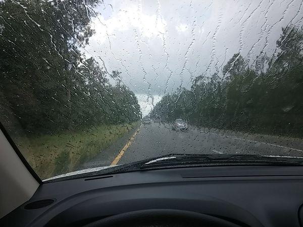 Road Trip On The Road Rain